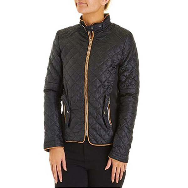 ЖІНОЧА КУРТКА BACCINI Quilted Jacket with Rib Knit Sides  9a8a5bf62a628