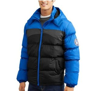 Чоловіча куртка Mens Color Block Puffer Coat with Attached Hood by BEVERLY HILLS POLO CLUB XL