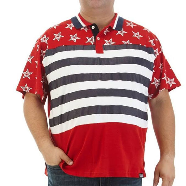 чоловіча футболка Big & Tall Americana Print Polo by Switch