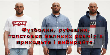футболки, рубашки і толстовки великих розмірів для чоловіків