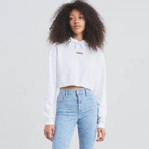 Жіноче Худі Levis 90% Cotton, 10% Polyester Non-Stretch Fleece Drawstring hood одежда больших размеров в плюс сайз киев