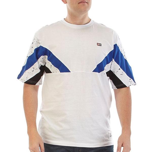 91bc90b5e7a7d Чоловіча футболка великих розмірів Mens Striped Color T-Shirt ...