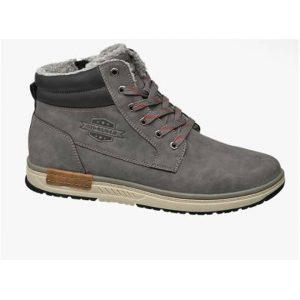 чоловіче взуття великих розмірів Чоловічі черевики великих розмірів Venice Men's Grey Casual Lace-up Shoes 42-48
