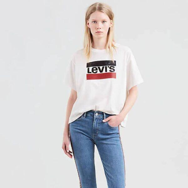 Женская футболка больших размеров ZHіnocha futbolka Levis Graphic J.V. Tee Shirt