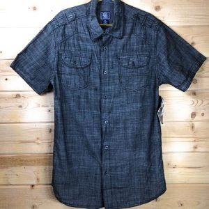 чоловіча сорочка великих розмірів Shirt with Chambray Trim by BLACK JACK 4Х