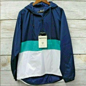 чоловіча вітровка великих розмірів Hooded Quarter-Zip Jacket by ENCRYPTED