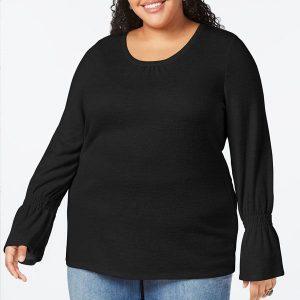 жіночий топ великих розмірів Style & Co 3Х чорний інтернет магазин плюс сайз ком уа