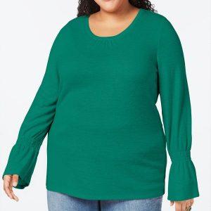 жіночий топ великих розмірів Style & Co 3Х зелений інтернет магазин плюс сайз ком уа