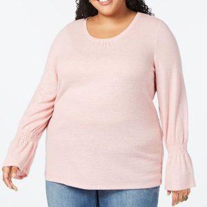 жіночий топ великих розмірів Style & Co 3Х рожевий інтернет магазин плюс сайз ком уа