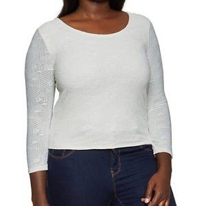 купити жіночий топ Plus Size Lace Scoop Neck Top